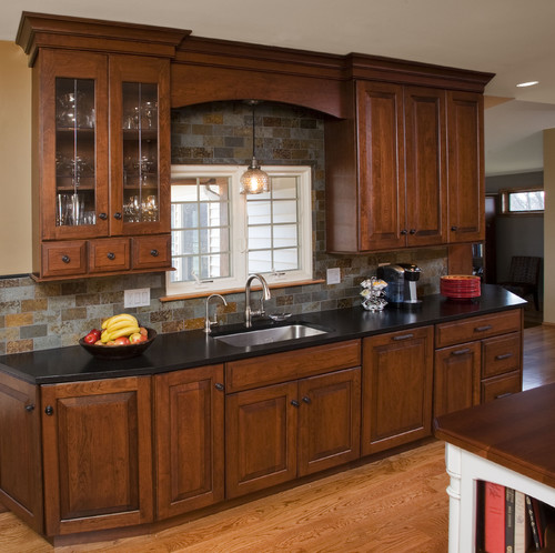 http www houzz photos st century traditional kitchen small eat kitchen design photos multi colored backsplash