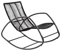 Moretta Metal Black Rocking Chair - Contemporary - Outdoor ...