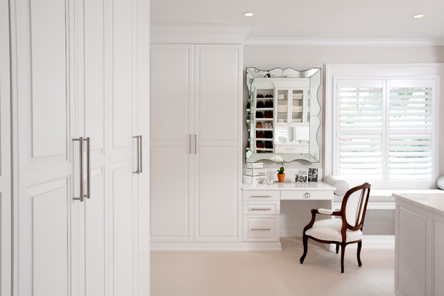 Radiator Cover Bench Custom Walk-in Closets - Traditional - Closet - New York