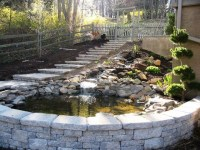 Natural Stone Pond - Custom EP Henry Retaining Wall and ...