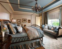 Blue and Beige Master Bedroom - Traditional - Bedroom ...