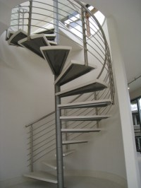 Modern Stainless Steel Spiral Stair and Rails ...
