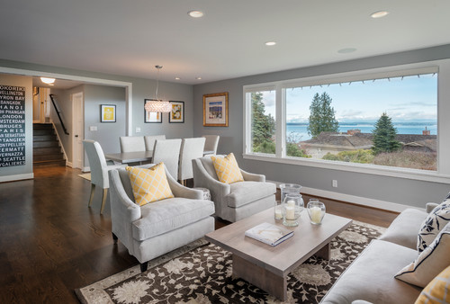 Color Case Study Shades of Gray - Evolution of Style - mindful gray living room