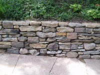 Stone Retaining Walls and Sitting Walls - Rustic ...
