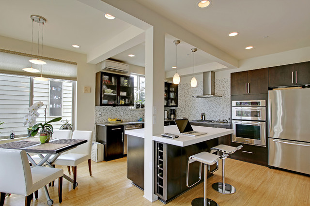 How To Build A Kitchen Island Using Wall Cabinets Greenlake Addition - Contemporary - Kitchen - Other Metro