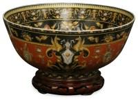 Hand-Painted Porcelain Decorative Bowl - Asian ...