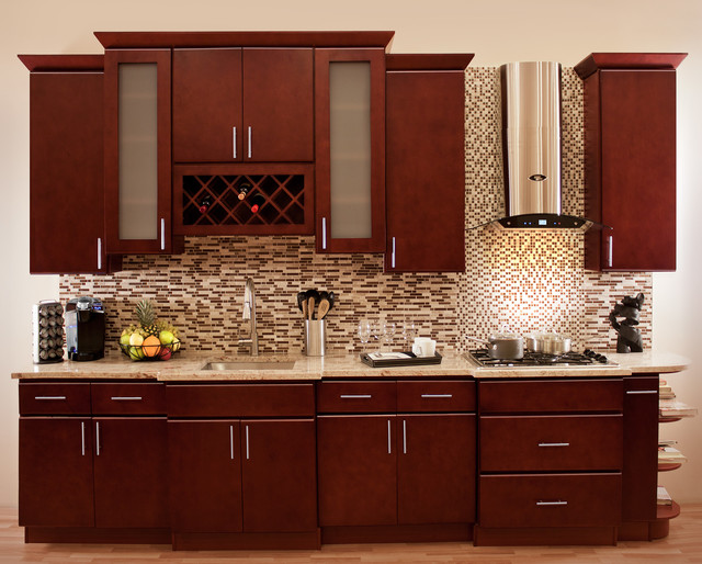 cherry collection rta stock kitchen cabinets contemporary kitchen kitchen backsplash ideas cherry cabinets cherry kitchen cabinets