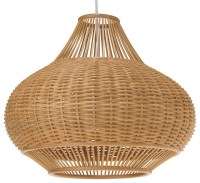 Wicker Pear Pendant Lamp, Natural - Tropical - Pendant ...