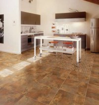 Porcelain Floor Tile in Kitchen