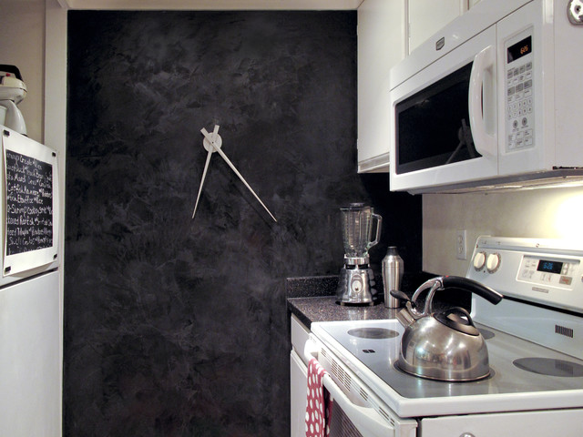 Schwarze Tafel Black Kitchen Wall - Eclectic - Kitchen - San Francisco