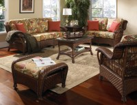 Casablanca Wicker Rattan Furniture Set of 5 - Tropical ...