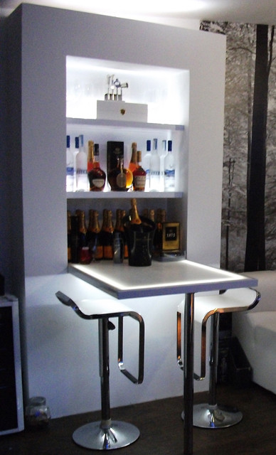 Compact Kitchen Island Home Bar - Modern - Living Room - London