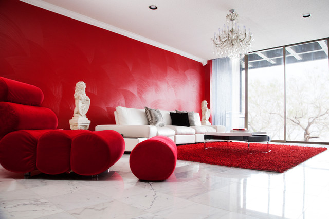 Babyzimmer Rot Red Room - Dinah Capshaw Interior Designs - Modern
