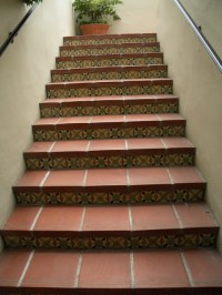 Staircase Riser Tiles Biltmore Diane's Pattern