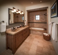 Ranch - Rustic - Bathroom - houston - by Thompson Custom Homes