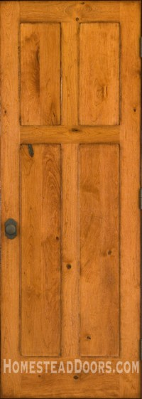 Rustic Doors - Solid Cherry 4-panel Door with Distressed ...