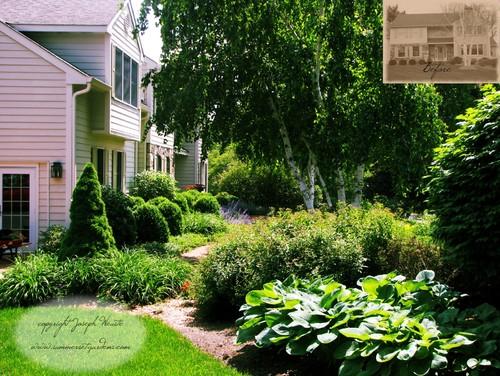 Front Yard Landscaping Ideas -lush perennial garden
