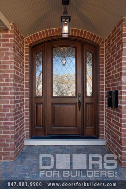 Solid wood entry doors diamond glass doors for builders