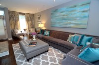 Turquoise Living Room - Transitional - Living Room - other ...