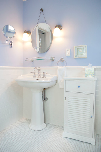 Bathroom Mirror With Storage Beach Cottage - Traditional - Bathroom - Philadelphia - By