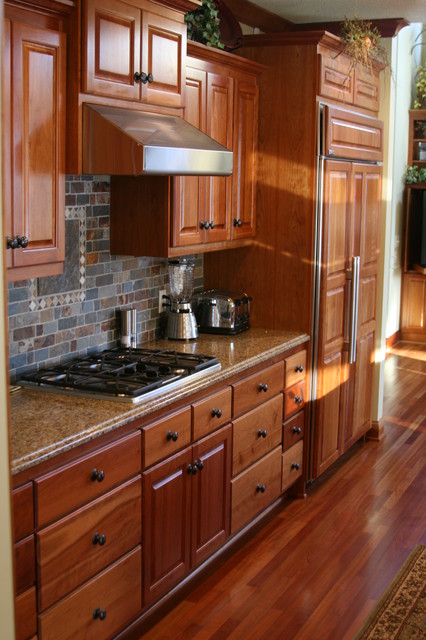 cherry kitchen slate backsplash traditional kitchen kitchen backsplash ideas cherry cabinets cherry kitchen cabinets