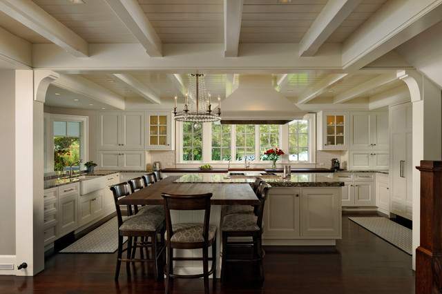 Houzz Kitchen Island On The Eastern Shore - Traditional - Kitchen - Dc Metro