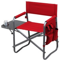 Director's Chair with Side Table, Red - Contemporary ...