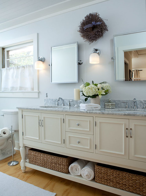 Cottage style remodel traditional bathroom