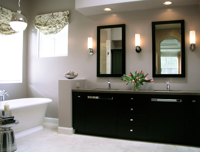 Interior Decorating Living Rooms Transitional Master Bathroom - Traditional - Bathroom