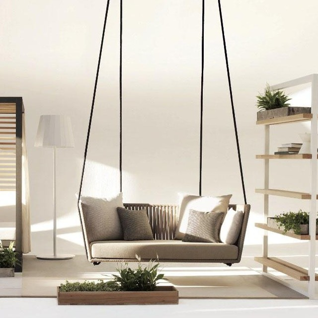 Bitta Swing Gartensofa Hollywoodschaukel Bauhaus Look - Hollywoodschaukel Bauhaus
