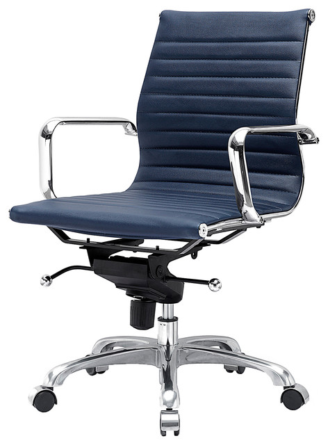 Eames Daw Chair M344 Eames Style Office Chair In Navy Blue - Modern