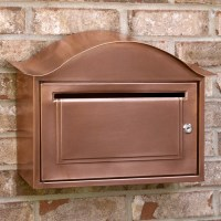 Arched Locking Wall-Mount Copper Mailbox - Modern ...