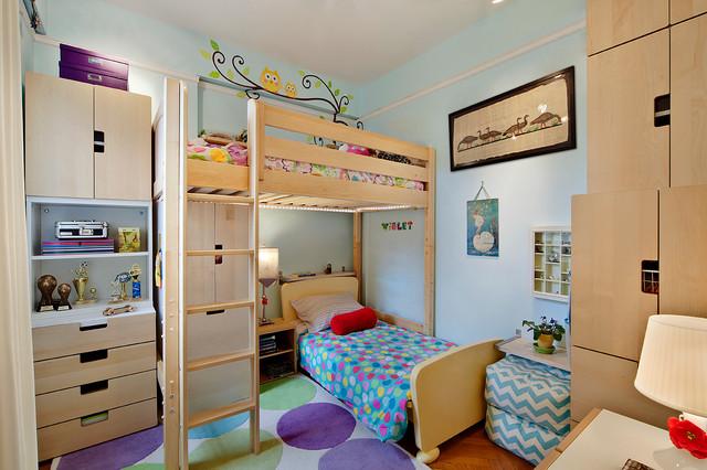 ide desain ranjang susun yang seru untuk kamar anak