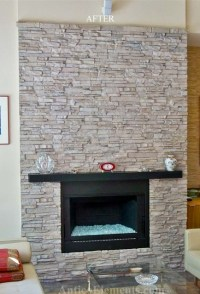 Faux Stone Fireplace - Contemporary - Family Room - miami ...