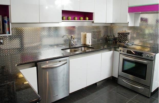 aluminum checkerplate backsplash panel ridalco kitchen ottawa asked richly detailed panels clean