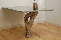 Concrete & Driftwood Table - Modern - Dining Tables ...
