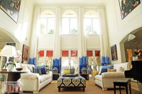 Ombre Drapes - Beach Style - Living Room - miami - by ...