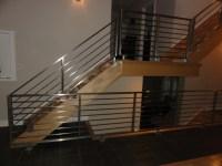 Stainless steel horizontal railings - Contemporary ...