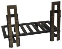 Andirons and Fireplace Grates - Contemporary - Fireplace ...