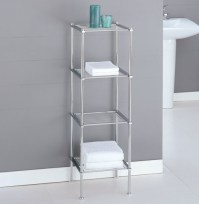 Metro Four-Tier Chrome Bath Shelf - Bathroom Cabinets And ...
