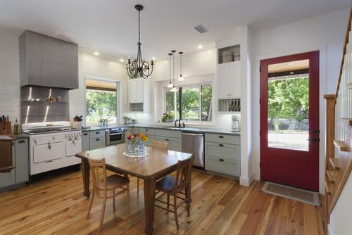 farmhouse kitchen austin architects designers rauser design stylish table eat small kitchen ideas decoholic