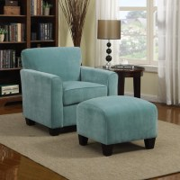 Portfolio Park Avenue Turquoise Blue Velvet Arm Chair and ...