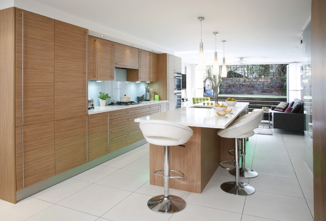 Kitchen Island With Seating On Both Sides Islington, London, Uk - Contemporary - Kitchen - London