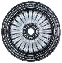 LunardiDecor Hand-Painted Viceroy Ceiling Medallion Silver ...