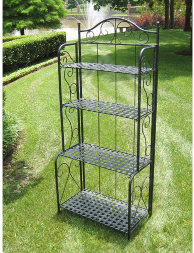 Iron Patio Baker39s Rack Modern Display And Wall Shelves