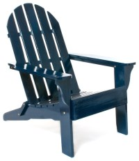 Navy Adirondack Chair - Contemporary - Living Room Chairs ...