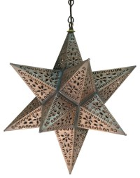 Mexican Tin Hanging Star Lamp - Eclectic - Ceiling ...