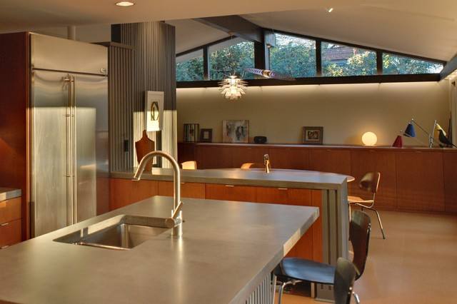 Outdoor Lighting Houzz Mid-century Modern Home Renovation