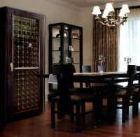 Dining Room with 200WCG-Model Economy Wine Cabinet with ...