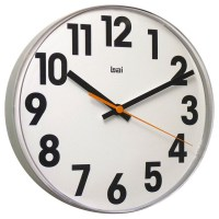 Large Numbers Lucite Wall Clock